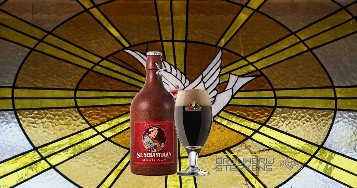 神喜伯修道院陶瓷瓶黑啤酒-St. Sebastiaan Dark