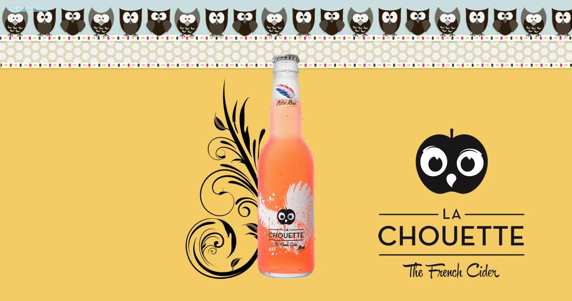 法國貓頭鷹粉紅蘋果氣泡酒