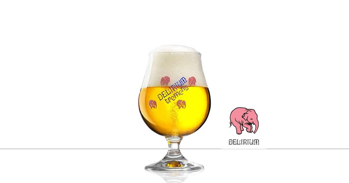 迪力-精釀啤酒(原廠杯)(Delirium Tremens Beer Glass)
