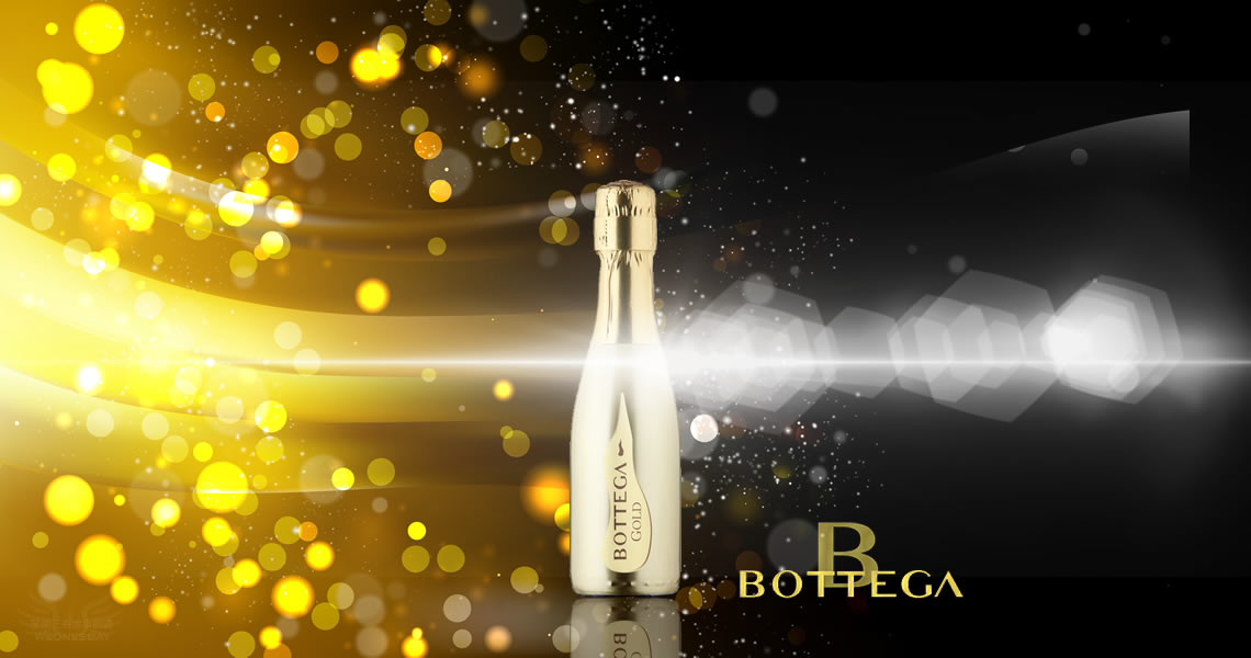 寶緹嘉-璀璨金瓶氣泡葡萄酒(200ml)-BOTTEGA GOLD Prosecco DOC Spumante Brut