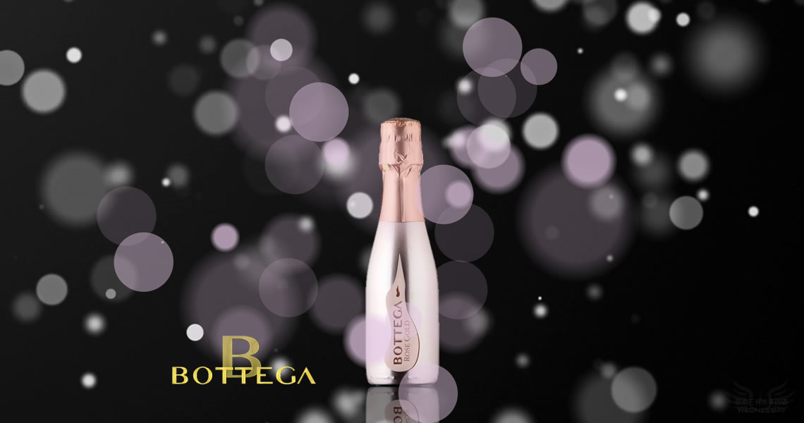 寶緹嘉-粉金瓶粉紅葡萄酒(200ml)-BOTTEGA ROSE GOLD Pinot Nero Spumante Brut Rosé (200ml)