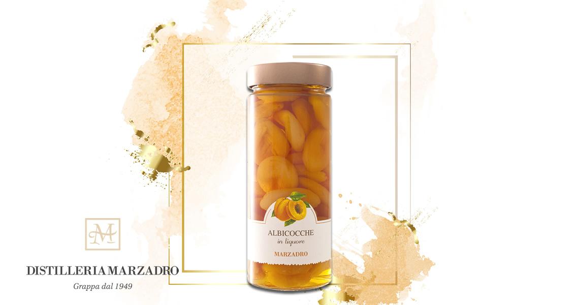 馬莎朵義式鮮果酒-杏桃-Distilleria Marzadro - Vaso di frutta  Apricots in liqueur