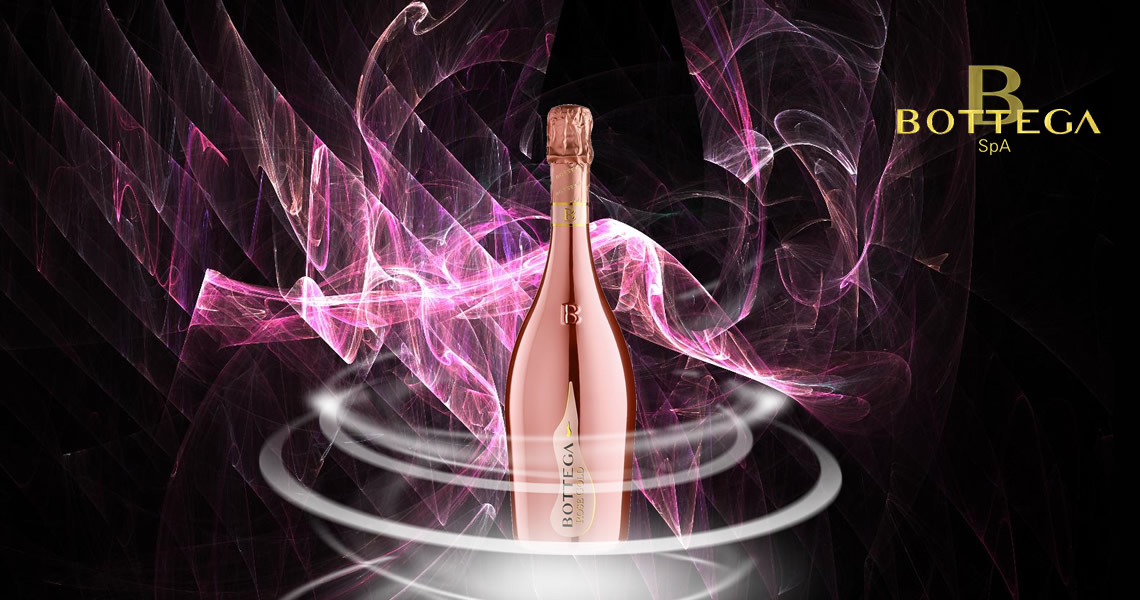 寶緹嘉-粉金瓶粉紅葡萄酒-Bottega  ROSE GOLD Pinot Nero Spumante Brut Rosé