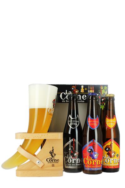 牛角啤酒經典禮盒組(3B1G)-La Corne gift box