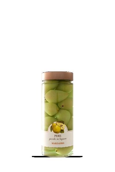 馬莎朵義式鮮果酒-桑塔露西亞梨-Distilleria Marzadro -Vaso di fruttaPere Santa Lucia in liquore