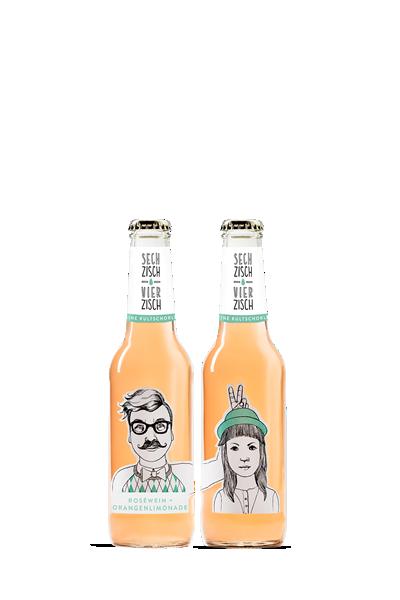 亨利樂蒂-六十、四十橙味氣泡酒-Sechzisch Vierzisch - Rosewein+Orangenlimonade