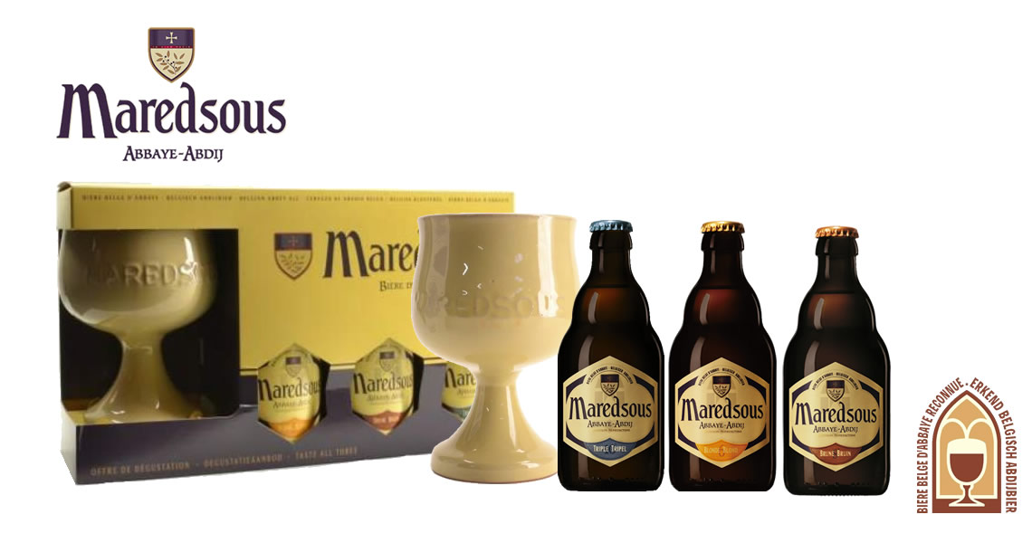 馬樂修道院啤酒系列禮盒(3B1G)-Maredsous Gift 3B1G