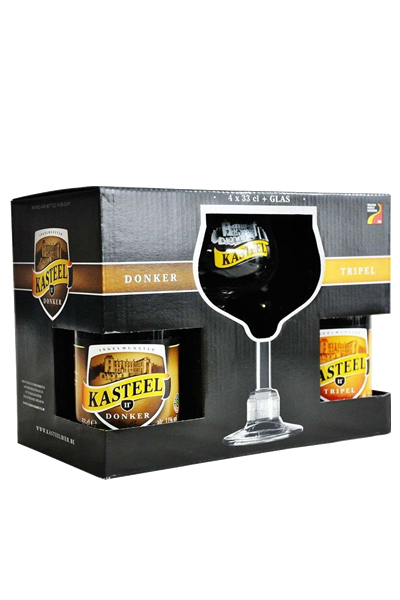 城堡啤酒系列禮盒(4B1G)- Kasteel Beer Gift