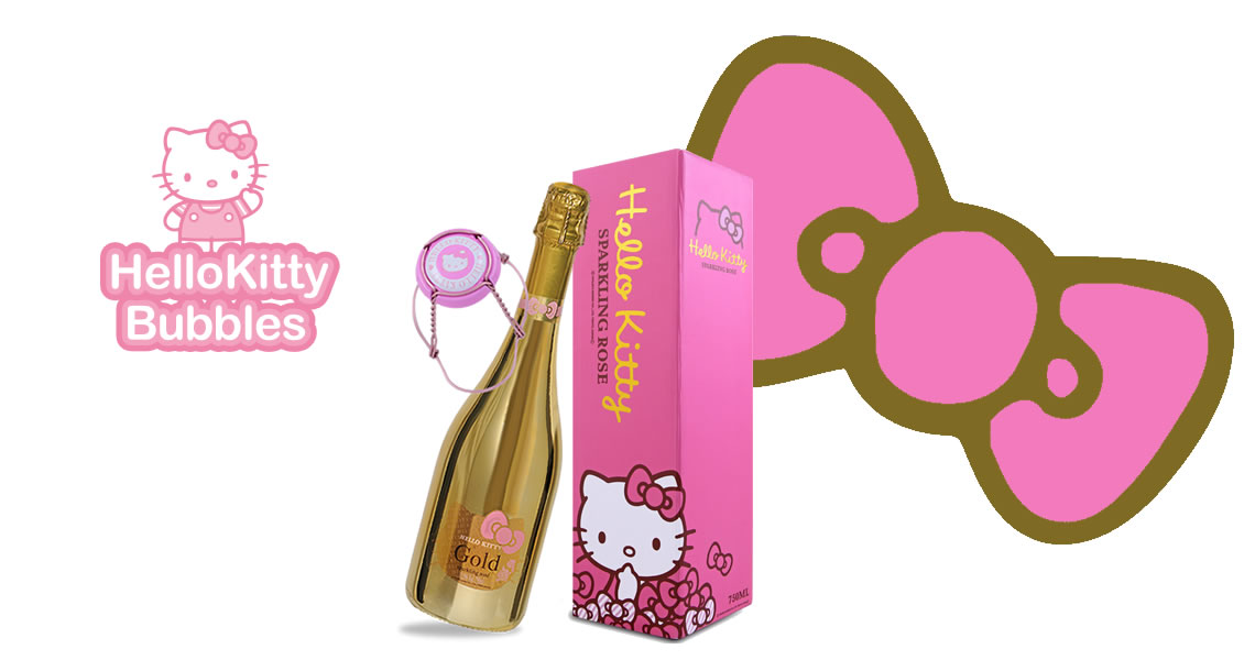 Hello Kitty-閃耀金瓶粉紅氣泡酒 -Hello Kitty Gold Sparkling Wine