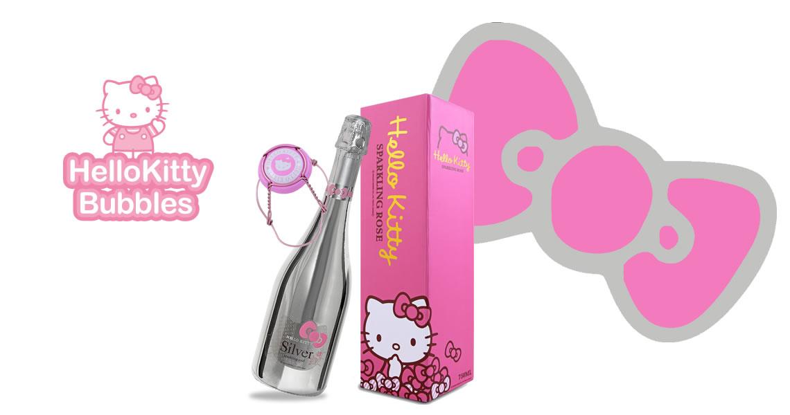 Hello Kitty-奢華銀裝粉紅氣泡酒-Hello Kitty Silver Sparkling Wine