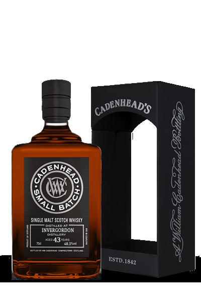 英柏高登《1972》43年- 單一穀類小批限量威士忌原酒-凱德漢裝瓶-INVERGORDON Small Batch  Single Garin  1972 43Y - Cadenhead′s