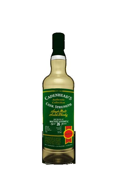 布萊克拉《1989》26年- 單一麥芽限量威士忌原酒-凱德漢裝瓶-MACDUFF AUHENTIC  Single Cask Single Malt  1989 26Y - Cadenhead′s