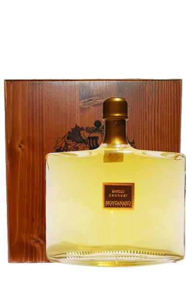 巴羅洛卡努比莊園義式白蘭地木裝禮盒-Grappa di Barolo「Cannubi」 - Montanaro