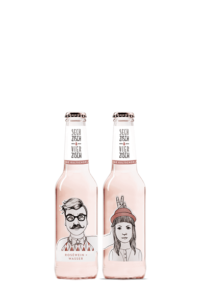 亨利樂蒂-六十、四十粉紅氣泡酒-Sechzisch Vierzisch - ROSÉWEIN  WASSER