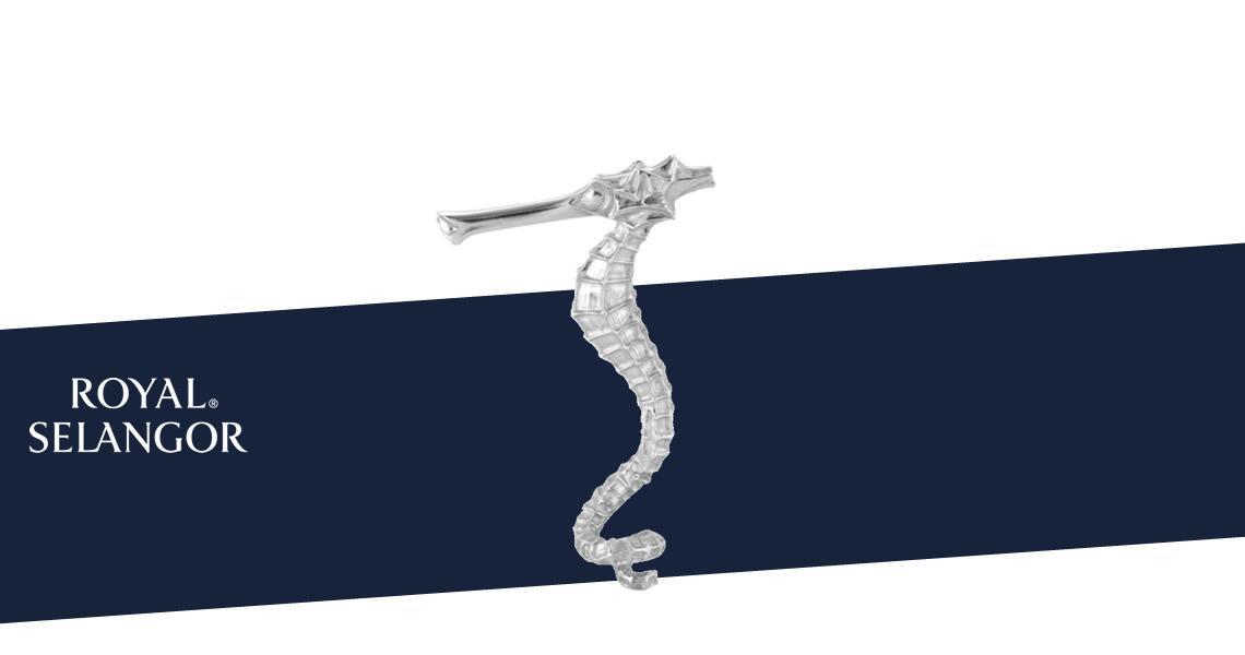海馬注酒器-皇家雪蘭莪-Royal Selangor Metalware Collectable Pewter Seahorse Aerator
