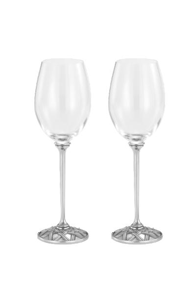 編籐「柳條」紅酒高腳對杯--皇家雪蘭莪-Wicker Red Wine Glass Pair Royal Selangor