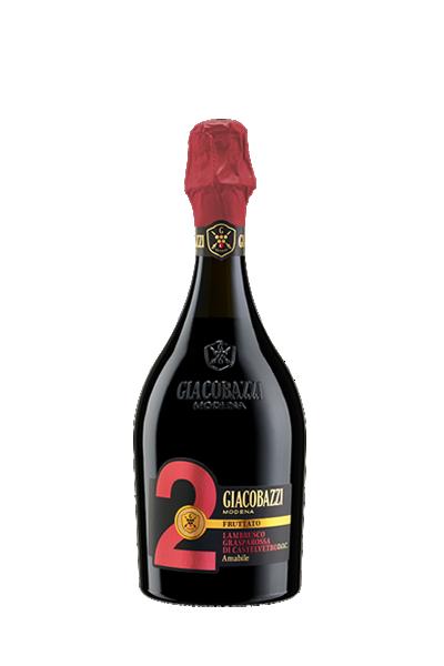 """吉雅科巴齊 2 號-藍布魯斯科微甜紅氣泡酒- """"GIACOBAZZI 2"""" LAMBRUSCO GRASPAROSSA DI CASTELVETRO DOC AMABILE"""