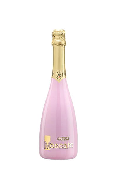 瑰麗粉紅莫斯卡托甜氣泡酒-GIACOBAZZI MOSCATO ROSE' SWEET SPARKLING WINE (PINK COLORED BOTTLE)