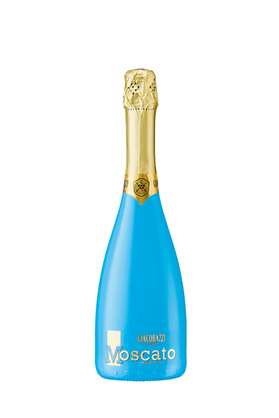 湛藍白莫斯卡托甜氣泡酒-GIACOBAZZI MOSCATO SWEET WHITE SPARKLING WINE (TURQUOISE COLORED BOTTLE)