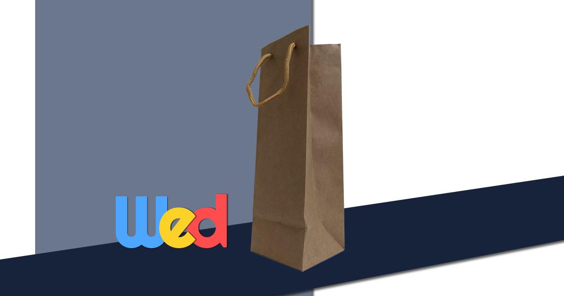 酒瓶(750ml)單入專用紙袋-牛皮紙-750 - Paper bag
