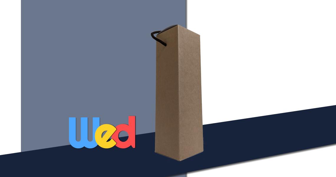 酒瓶(750ml)單入專用紙盒-高磅數牛皮紙-310 Carton