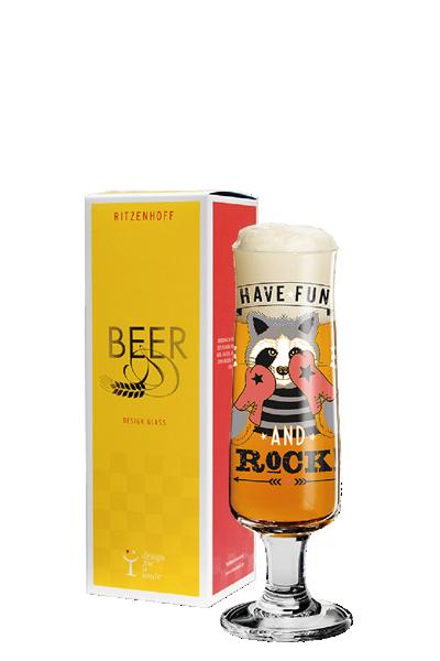 Ritzenhoff 新式啤酒杯 - 拳擊浣熊-Ritzenhoff - KATHRIN STOCKEBRAND