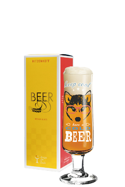 Ritzenhoff 新式啤酒杯 - 酷酷眼鏡狗-Ritzenhoff - MICHAELA KOCH