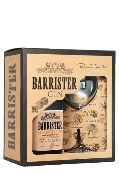 大律師-橘色琴酒( 1酒1杯-禮盒組 )-Barrister Orange Gin in gift box with glass