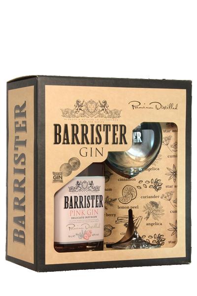 大律師-粉紅琴酒( 1酒1杯-禮盒組 )-Barrister  Pink Gin in gift box with glass