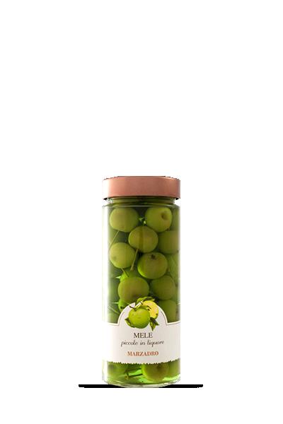 馬莎朵義式鮮果酒-小蘋果-Distilleria Marzadro -Vaso di fruttaMele piccole in liquore