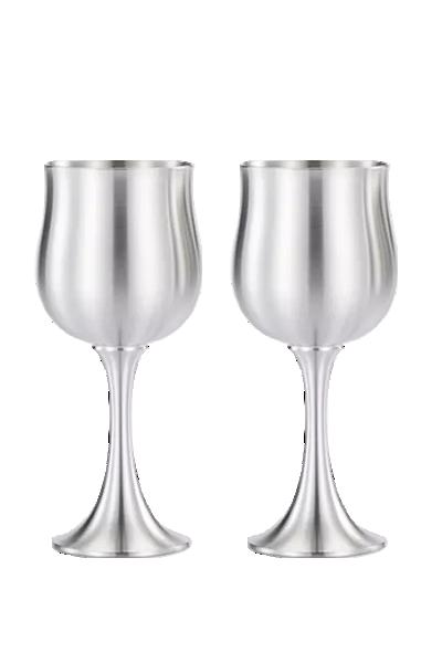 木盒雙錫杯組-皇家雪蘭莪-Wine Goblet Pair in Wooden Gift Box Royal Selangor