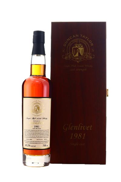 鄧肯泰勒-格蘭利威30年單桶原酒單一麥芽威士忌(禮盒組)-Duncan Taylor 1981 Glenlivet NC2 Sherry Cask 30y  Highland Single Malt Scotch Whisky